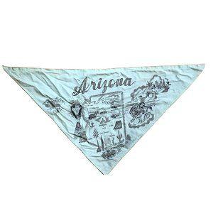 Vintage Green Arizona Triangle Banana Map EUC